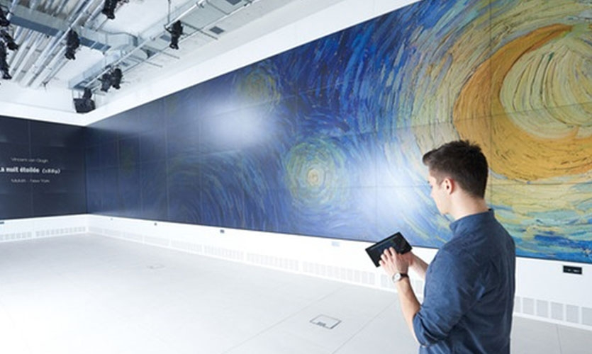 """The Studio"", 60 ft video wall, Cultural Institute, Paris"