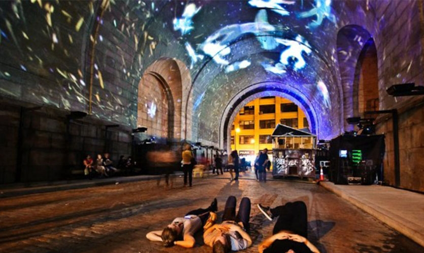 """Video Mapped Archway"", Brooklyn, NY"