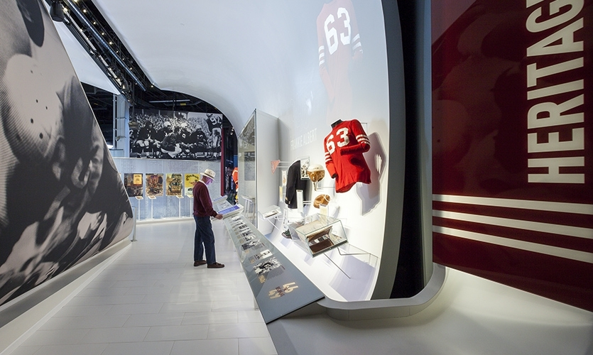 The Cambridge Seven Associates, Inc. team that created the new San Francisco 49ers Museum at Levi's Stadium successfully met the challenges of an irregularly shaped space, a fast-track design process, and a directive to break the exhibit/fan barrier.
