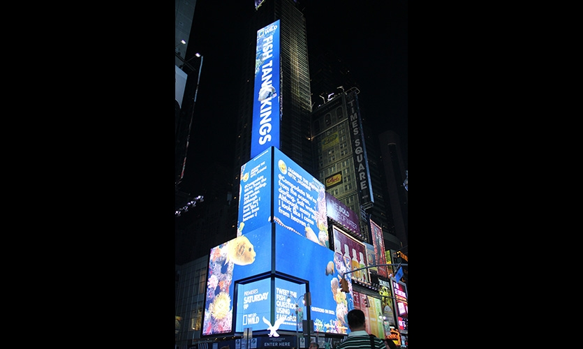 American Eagle Fish Tank Kings Twitter at Times Square. Activate the Space will lead a tour and discussion of how the most viewed digital signage in the world gets activated.