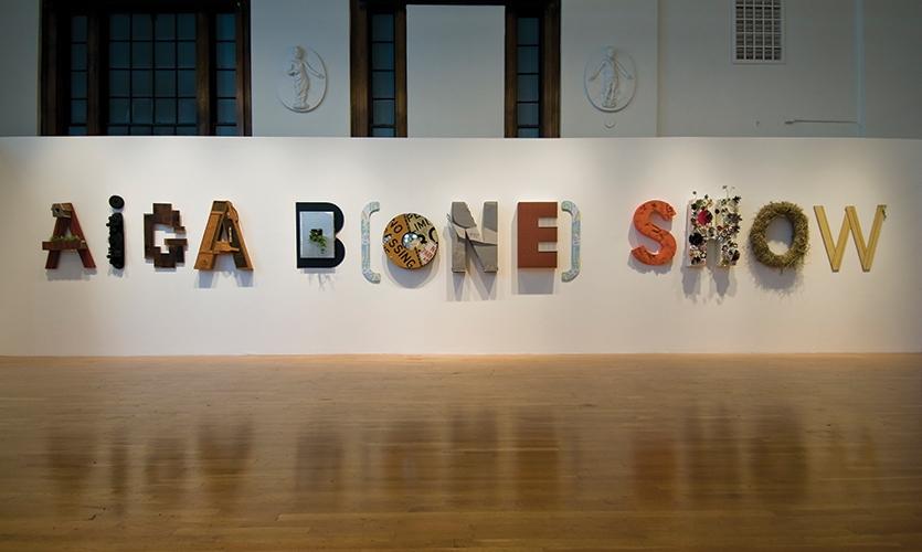 Wall Graphics, 2009 AIGA Bone Show, AIGA Boston Chapter, Brandon Bird, Jeff Stammen, Christine Lefebvre