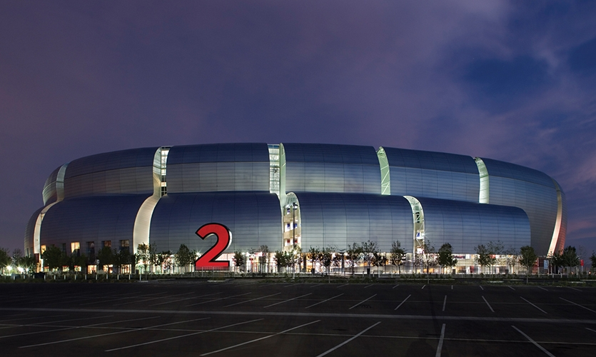 Exterior, Arizona Cardinals Stadium, Arizona Sports & Tourism Authority, Pentagram, Entro Communications