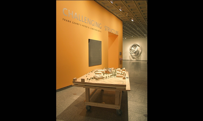 Display and Wall Graphic, Challenging Structure, Cleveland Museum of Art
