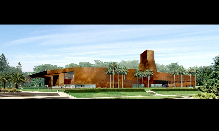 Artist Rendition, de Young Museum, Fine Arts Museum of San Francisco, Debra Nichols Design