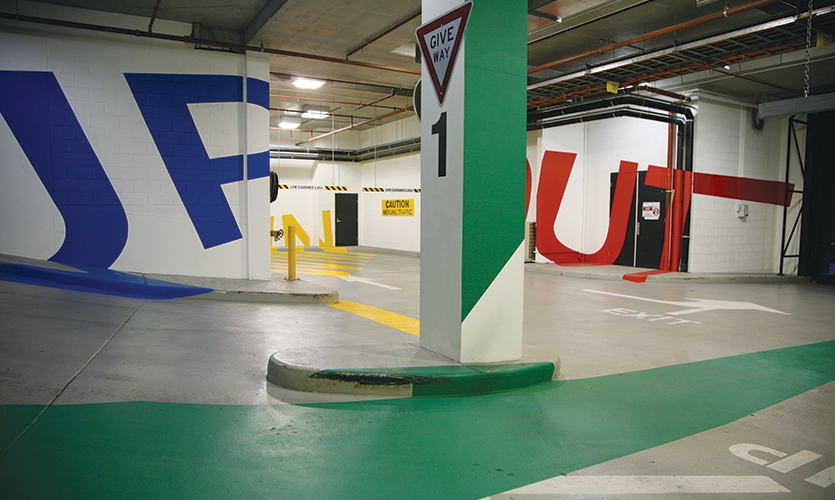 Wall Graphics, Eureka Carpark, emerystudio