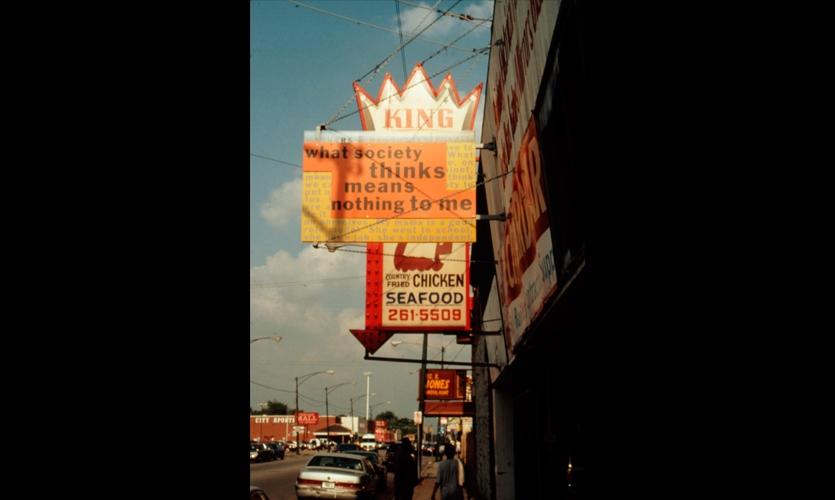 Signage, Family Voices/Austin, Community Architexts, BJ Krivanek Art+Design