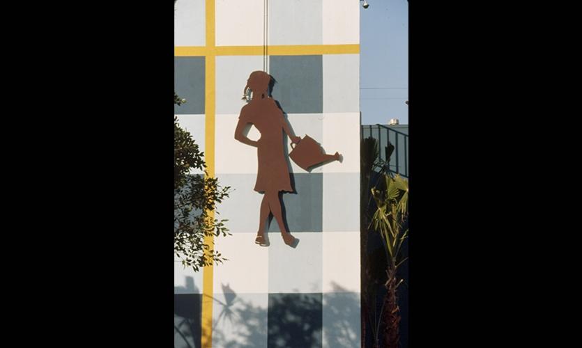 Exterior Graphic, Farmer's Daughter Hotel, Romero Thorsen Design