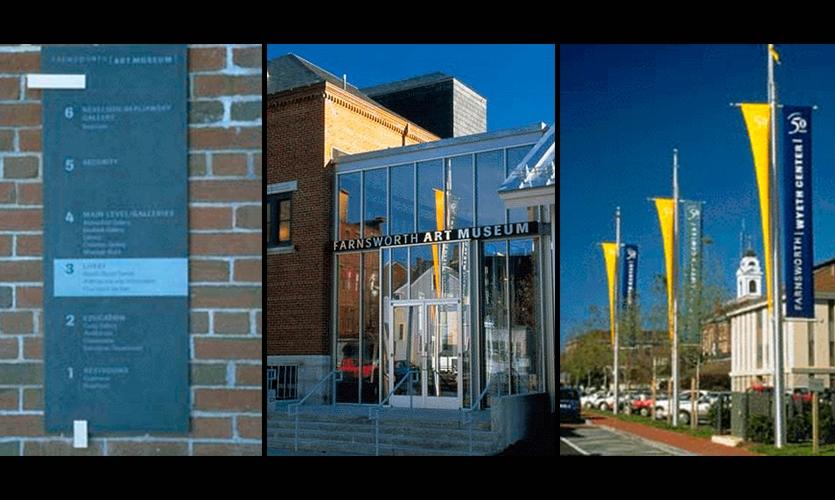 New Identity Design, Farnsworth Art Museum, Arrowstreet Graphic Design