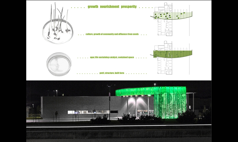 Concept Schematic, First National Bank, Metro Crossing Branch, RDG Planning & Design