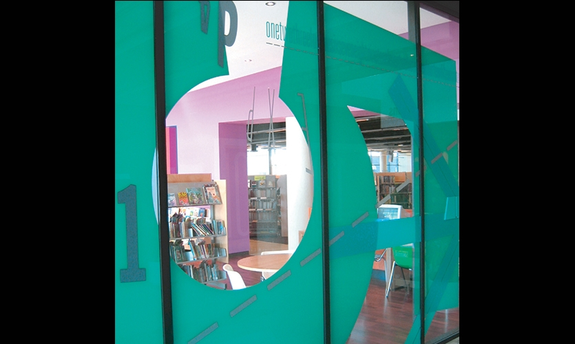 Window Graphic, Five Dock Library, City of Canada Bay, Minale Bryce Design Strategy