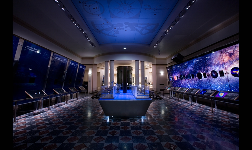 Exhibit Hall, Griffith Observatory Exhibits, City of Los Angeles, C&G Partners