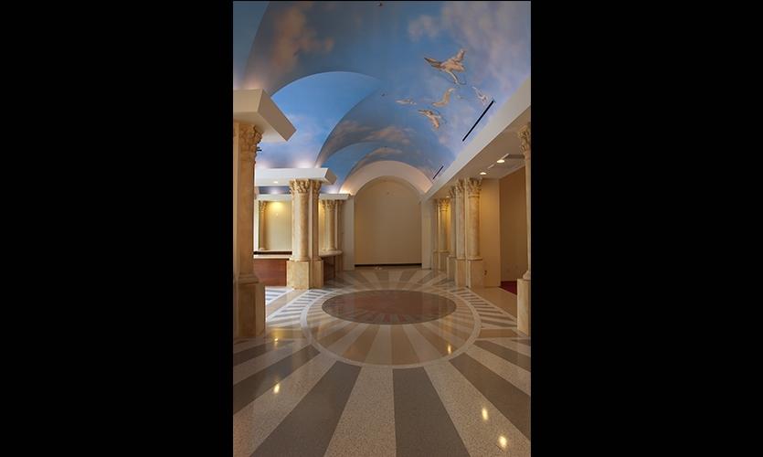 Ceiling Trompe L'oeil, Guadalupe Wedding Chapel, Marie & Julliano Morchon, Romero Thorsen Design