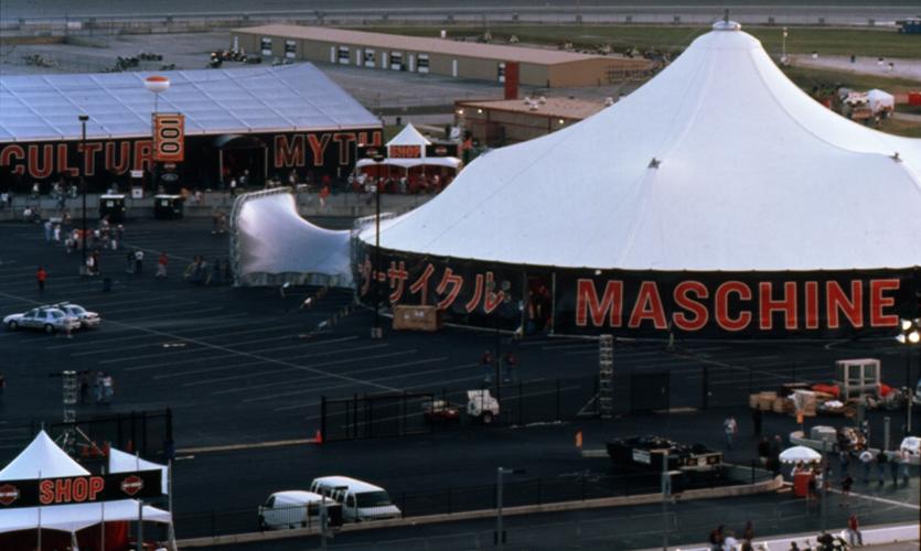Tents, Harley-Davidson, Pentagram