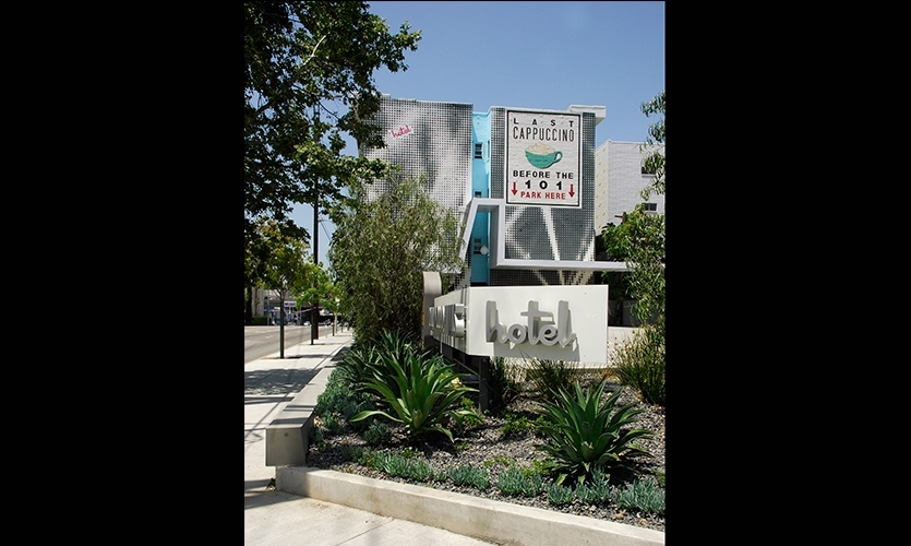 Newsom Design used humor to capitalize on the location of the storied Hollywood Hills Hotel.