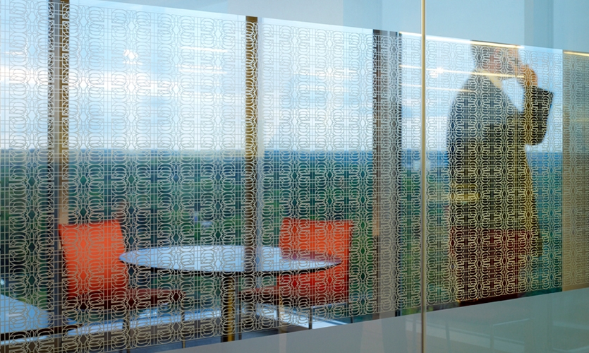 Glass Graphic, Invesco Headquarters, Invesco, Gensler