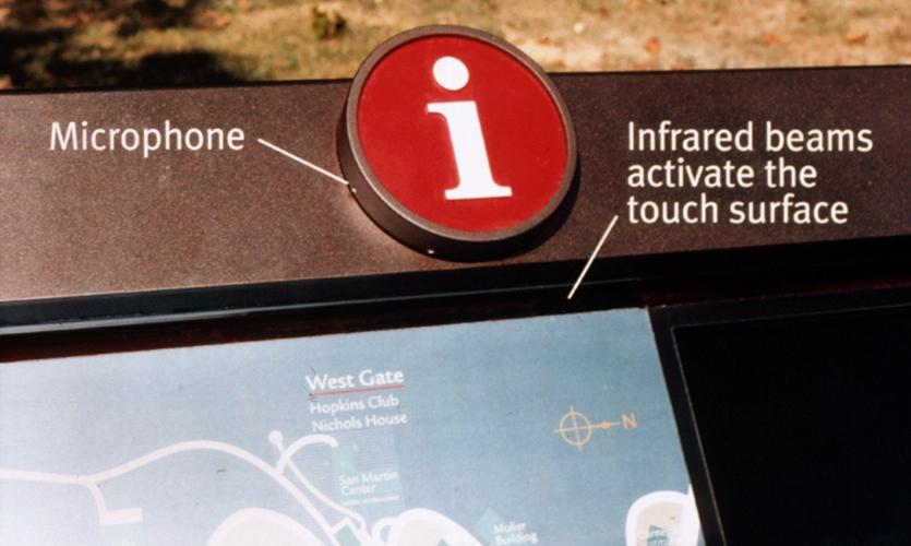 Close-Up of Kiosk, Johns Hopkins i-Site Information Kiosk, Johns Hopkins University, Cloud Gehshan Associates