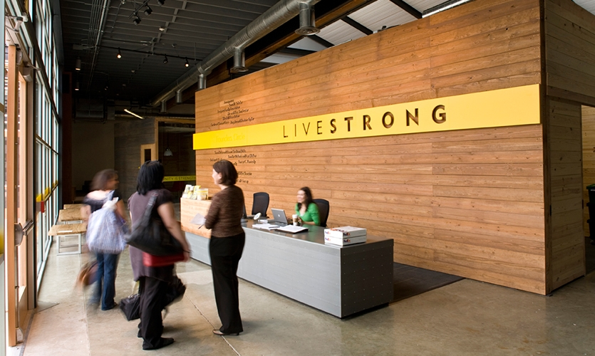 Front Desk, Lance Armstrong Foundation Headquarters, fd2s inc.