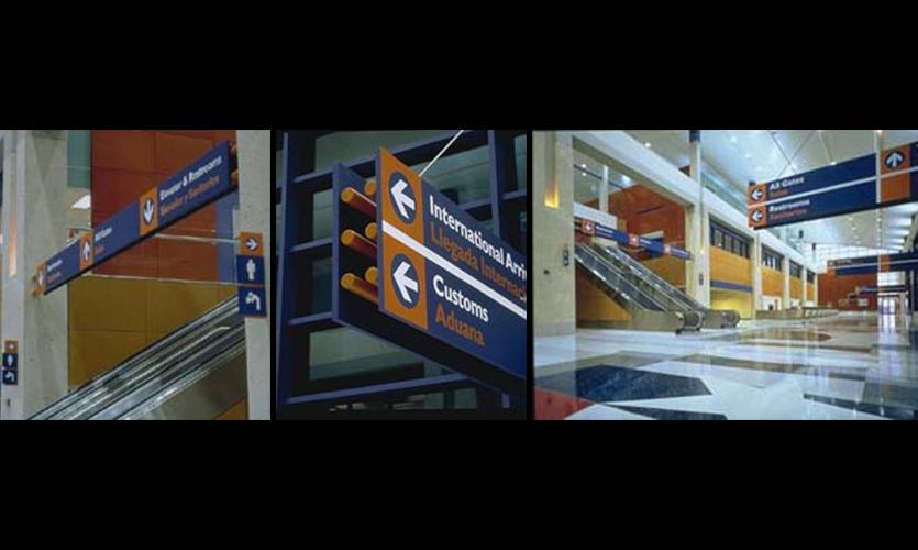 Wayfinding Signage, Lareo International Airport, HOK Graphics