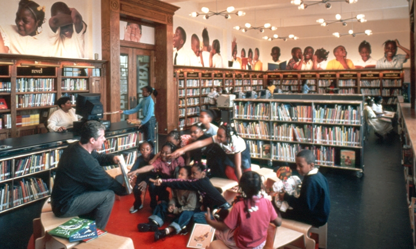 Reading To Children, The L!BRARY Initiative, Robin Hood Foundation, Pentagram