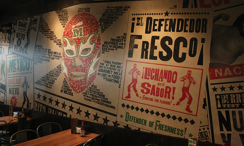 Wall Graphics, Mad Mex Fresh Mexican Grill, Holy Cow! Design & Advertising