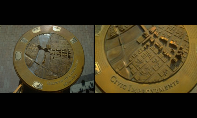 65-Inch Bronze Plaques, Federal Reserve Interpretive Plaques, Federal Reserve Bank, HOK