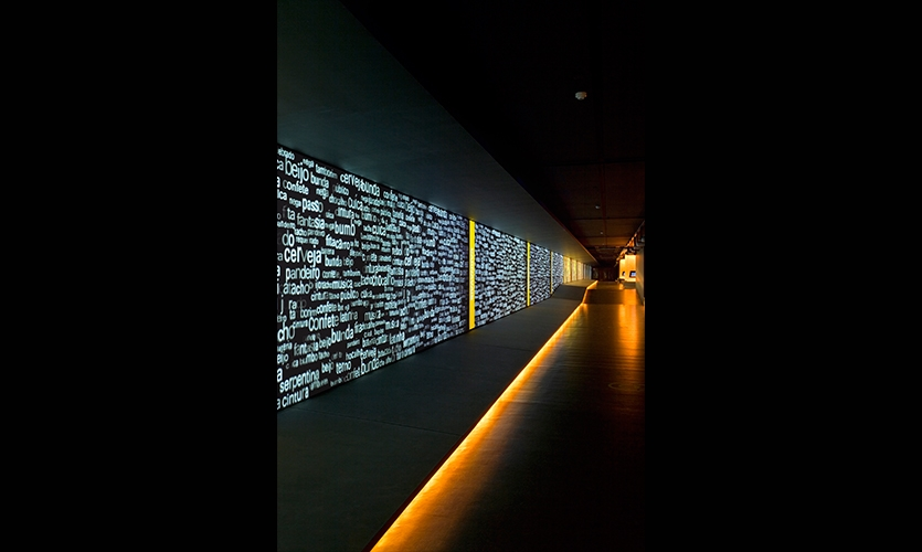 Grand Gallery Screen, The Museum of the Portuguese Language, Fundacao Roberto Marinho, Ralph Appebaum Associates