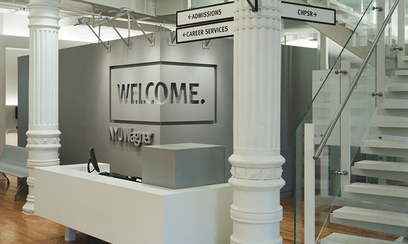 Welcome Graphic, Robert F. Wagner Graduate School, Pentagram