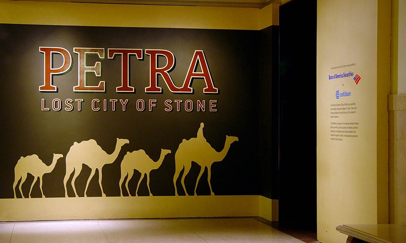 Wall Graphics, Petra: Lost City of Stone, American Museum of Natural History, American Museum of Natural History