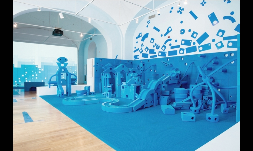 Play Work Build exhibit at the National Building Museum, Rockwell Group