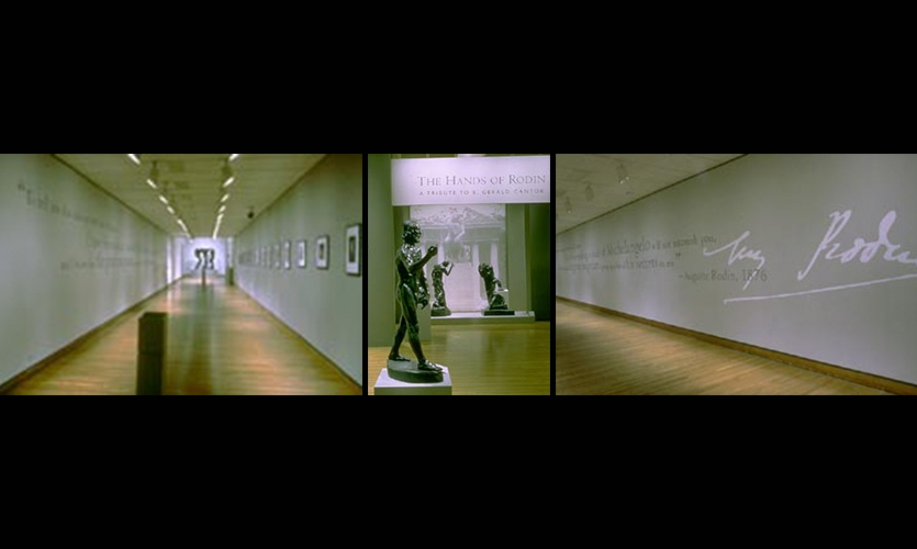 Exhibit Design, Rodin and Michelangelo, Philadelphia Museum of Art, Susan Maxman Architects, Willie Fetchko Graphic Design