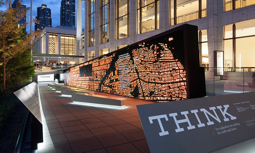 Sign and Wall, Think: An Exploration Into Making The World Better, IBM, Ralph Appelbaum Associates, SYPartners, Mirada