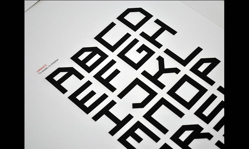4550ea0c4 Typographic Forms, Urban Tales Shadow Typography, Massey University,  College of Creative Arts,