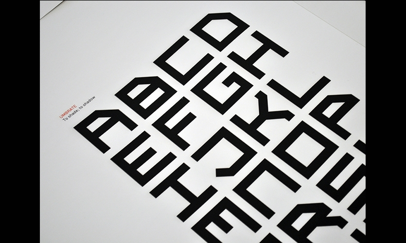 Typographic Forms, Urban Tales Shadow Typography, Massey University, College of Creative Arts, Katie Bevin