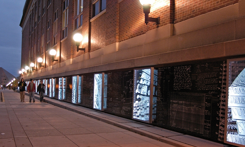 Exterior, Wall of Discovery, University of Minnesota, LA Ink