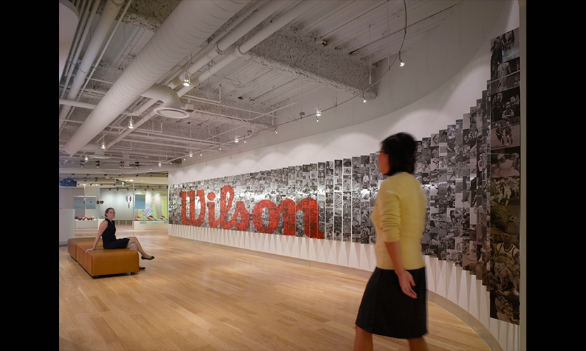 60 Ft. Graphic Wall, Wilson Sporting Goods Headquarters, Gensler