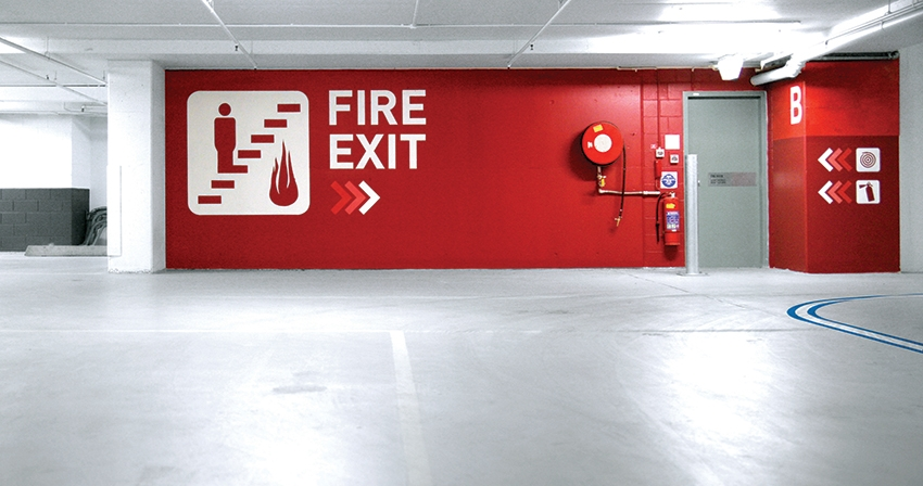 Fire Exit, World Square Carpark, Brookfield Multiplex, BrandCulture Communications