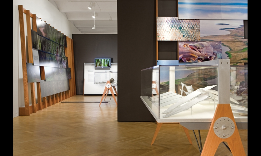 The exhibition presents multi-layered stories about the designers, the materials they worked with, the locations they explored, and the Nature Conservancy's global conservation efforts.
