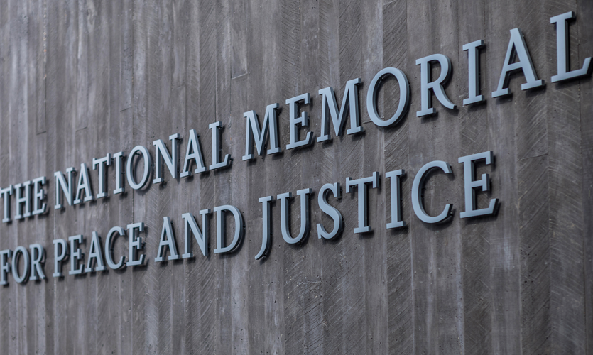 The National Memorial for Peace and Justice: Environmental Graphic Design Program Photo Credit: Shutterstock