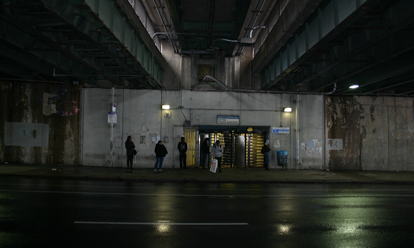 The long underpass was notoriously dimly lit, dingy, depressing and despite hundreds of thousands of people passing through the space monthly—it didn't feel safe.