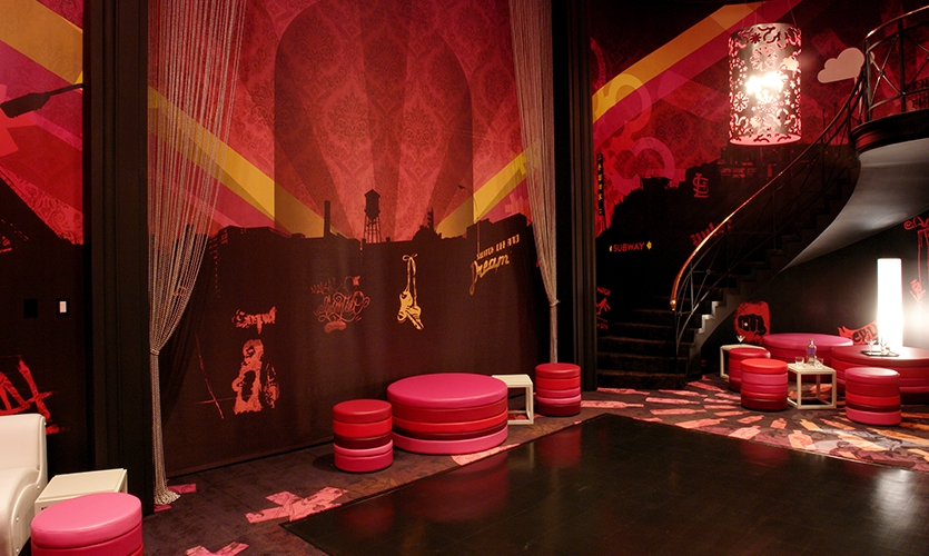 Absolut Raspberri Room, Absolut Flavor Suite, V&S Absolut Spirits and Esquire Magazine, Rockwell Group