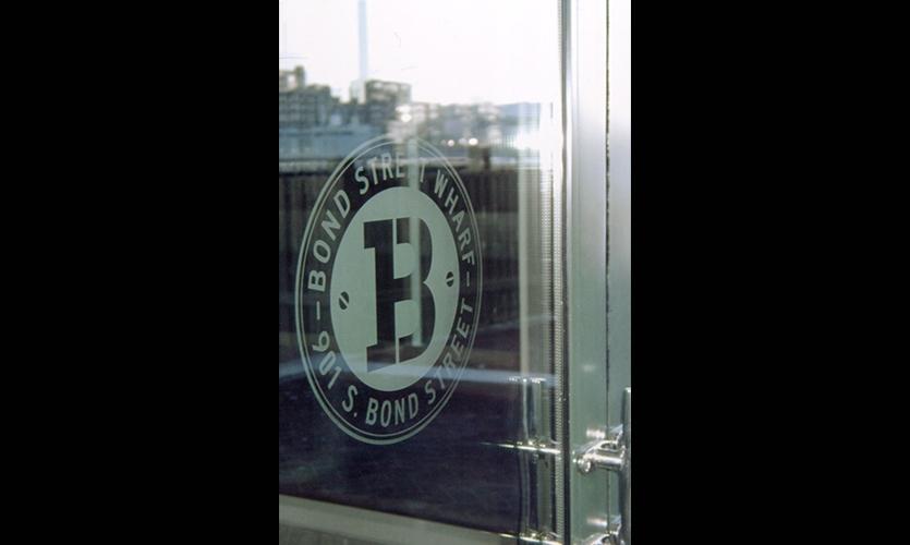 Door Graphic, Bond Street Wharf, Struever Bros., Eccles & Rouse, RTKL Associates, ID8 of RTKL