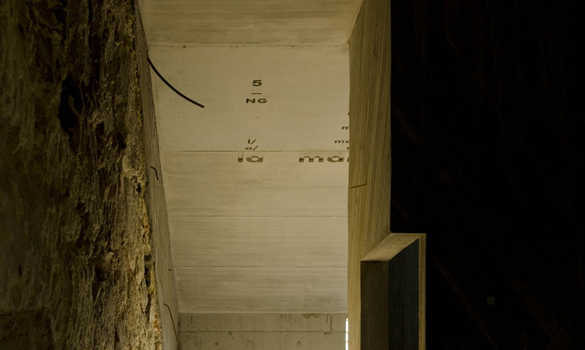 Text on Ceiling, Casa do Conto (House of Tales), R2 Design