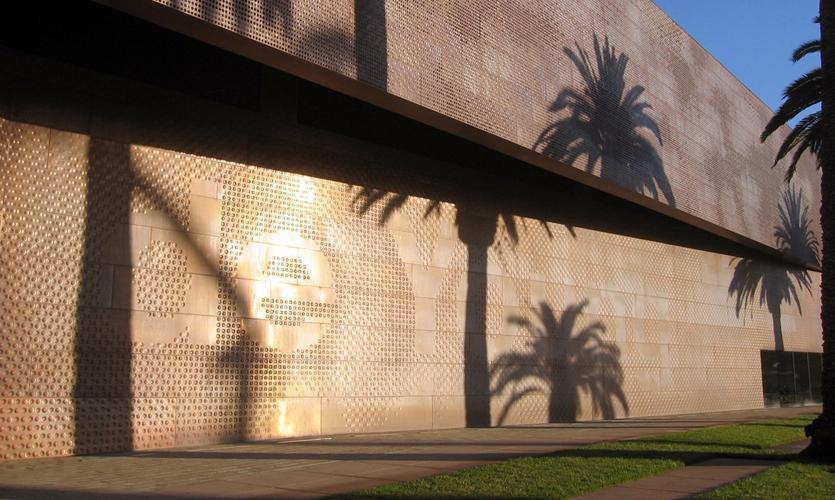 Wall Texture, de Young Museum, Fine Arts Museum of San Francisco, Debra Nichols Design