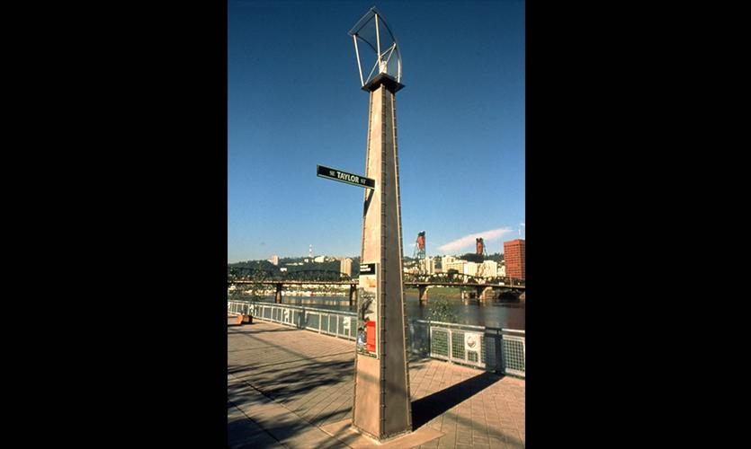 Street Sign, Eastbank Esplanade Urban Markers, Portland Development Commission, Mayer/Reed