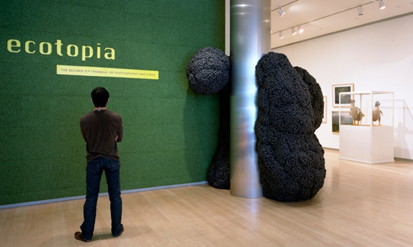 Exhibit Entrance, Ecotopia, International Center of Photography, Matter Practice Architecture, MGMT. Design
