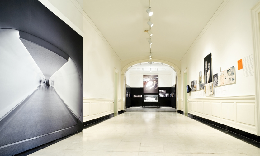 Museum Hallway, Eero Saarinen: Shaping the Future, Museum of the City of New York, Cooper Joseph Studio