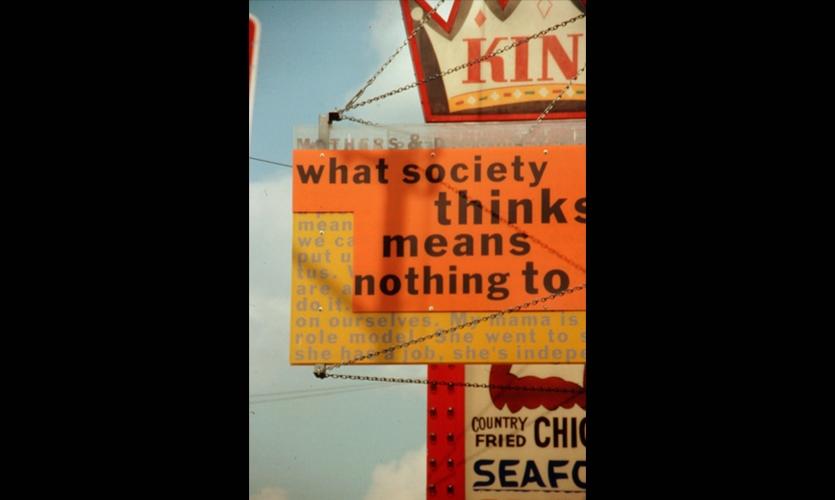 Close-Up of Signage, Family Voices/Austin, Community Architexts, BJ Krivanek Art+Design