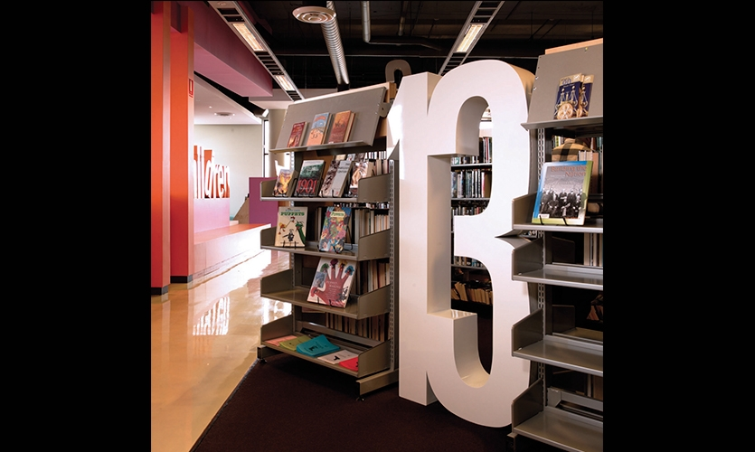 Bookshelf, Five Dock Library, City of Canada Bay, Minale Bryce Design Strategy