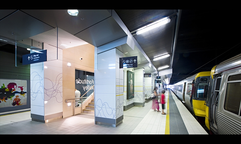 Station Wayfinding Signage, Fortitude Valley Station, QR Passenger Pty. Ltd., The Buchan Group