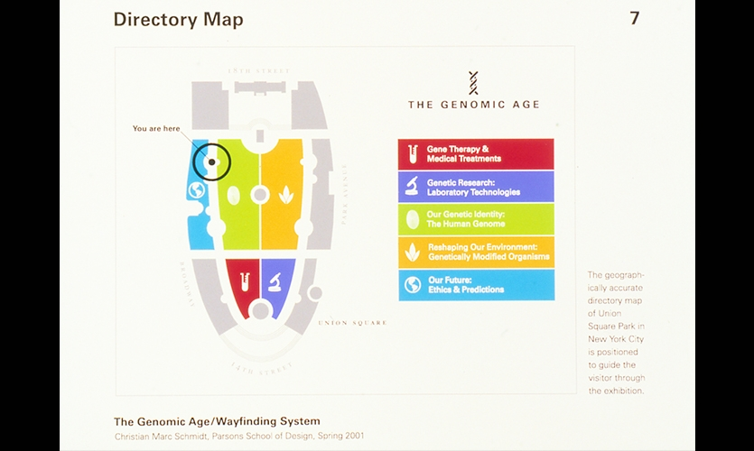 Directory Map, The Genomic Age, Parsons School of Design, Christian Marc Schmidt